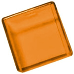 Panel Mount Indicator Lens Square Style, Amber, 18mm Long