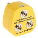 RS PRO ESD Earth Bonding Plug With 10 mm Stud x 3
