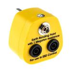 RS PRO ESD Earth Bonding Plug With 10 mm Stud, Banana Socket x 2