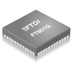 FT801Q-R, LCD Controller LCD Support I2C Bus, SPI Buss 3.3 V, 48-Pin VQFN