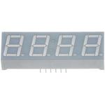 CC56-21SURKWA Kingbright 4 Digit 7-Segment LED Display, CC Red 72 mcd RH DP 14.2mm