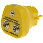 RS PRO ESD Earth Bonding Plug With 1 x 4 mm Stud, 2 x 10 mm Stud