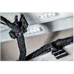 HellermannTyton EdgeClip Series, Black Nylon 66 Cable Tie Assemblies200mm x 4.6mm