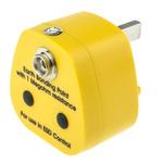 RS PRO ESD Earth Bonding Plug With 10 mm Stud