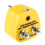 RS PRO ESD Earth Bonding Plug With Grounding Post x 2