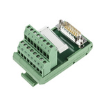 Phoenix Contact, 15 Pole D-sub Connector, Male Interface Module, DIN Rail Mount
