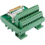 Phoenix Contact, 25 Pole D-sub Connector, Male Interface Module, DIN Rail Mount