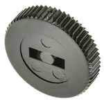 TE Connectivity Edge Wheel, 25mm Knob Diameter, Black