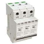 Bourns, 1210 415 V ac Maximum Voltage Rating 100kA Maximum Surge Current 3 Pole Protector, DIN Rail