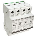 Bourns, 1210 415 V ac Maximum Voltage Rating 100kA Maximum Surge Current 4 Pole Protector, DIN Rail