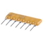 Bourns 4600X Series 10kΩ ±2% Bussed Through Hole Resistor Array, 6 Resistors, 0.88W total SIP package
