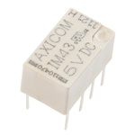 TE Connectivity DPDT PCB Mount Latching Relay - 2 A, 5V dc For Use In Automotive, Telecommunications Applications