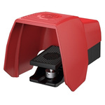 F1 Series Emergency Stop Foot Switch with Cover, 1 Pedal, 2NO/NC