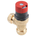 RS PRO 3bar Pressure Relief Valve With Female Compression 22 mm Compression Connection and a BSP 3/4 Exhaust Port