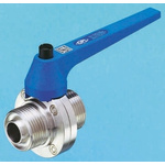 RS PRO Stainless Steel Butterfly Valve, 1in