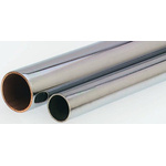 RS PRO 58 bar 2m Long Copper Pipe, 15mm Outer Diam. Chrome Plated