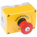 ABB Surface Mount Emergency Button - Key Reset, NC, Round Head