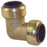 Pegler Yorkshire 90° Brass Push Fit Fitting 15mm