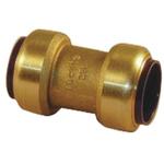 Pegler Yorkshire Straight Brass Push Fit Fitting 15mm
