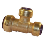 Pegler Yorkshire Brass Push Fit Fitting 22 x 15mm