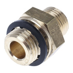 Legris 8mm x 1/4 in BSPP Male Straight Coupler Brass Compression Fitting