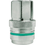 CEJN Brass Process Fitting 1/4in Straight Coupler 1/4BSP