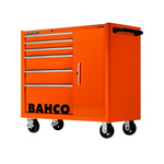 Bahco 6 drawer Stainless Steel (Top) WheeledTool Chest, 985mm x 1016mm x 501mm