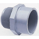 Georg Fischer Straight ABS Adapter, 1/2 in R Male x 1/2 in Cement Female