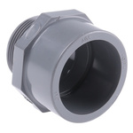 Georg Fischer Straight ABS Adapter, 1-1/2 in R Male x 1-1/2 in Cement Female