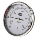 RS PRO Fahrenheit/Centigrade Dial Dry Temperature Gauge Suitable For Various Applications