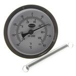 Brannan Fahrenheit/Centigrade Dial Clip On Dry Temperature Gauge, Suitable For Boiler Pipe Work, Process Pipeline,