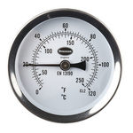 RS PRO Fahrenheit/Centigrade Dial Clip On Dry Temperature Gauge, Suitable For Boiler Pipe Work, Process Pipeline,