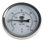 RS PRO Fahrenheit/Centigrade Dial Magnetic Dry Temperature Gauge, Suitable For Ferrous surfaces, Radiators