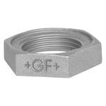 Georg Fischer Iron Backnut, Galvanised, 1 in BSPP, 12mm