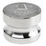 RS PRO Coupler Dust Plug, Stainless Steel