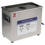 RS PRO Ultrasonic Cleaner, 200W, 6.5L with Lid