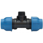 Georg Fischer 90° 90° Tee PVC Pipe Fitting, 25mm