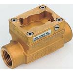 Burkert Brass In-line Flow Sensor Fitting 1in Straight Flow Adapter 1 in G