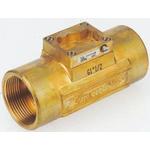 Burkert Brass In-line Flow Sensor Fitting 3/4in Straight Flow Sensor 3/4BSP