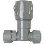 Polyplumb Grey Stop Cock, 15 x 15mm
