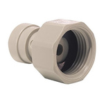 John Guest Acetal Process Fitting 1/4 (Tube OD) in, 3/4 (Thread BSP) in Straight Tap Adapter 1/4 in Push Fit, 3/4 in BSP