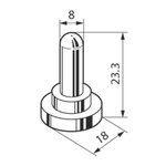 Toggle Switch Sealing Hood, Splashproof Boot, For Use With M Series Toggle Switches, P Series Toggle Switches, S Series