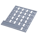 Keypad Legend Sheet for use with 700, 700 Series, 900 Series