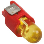 Yellow Push Button LED Light for use with A8 Series