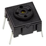 IP67 Single Pole Single Throw (SPST) Black Keyboard Switch, 50 mA @ 24 V dc, -40 → +115°C