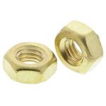 RS PRO Brass Hex Nut, Plain, M3