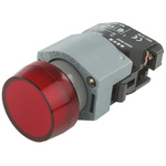Red Round Push Button Indicator Lens for use with 04 Series