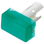 Green Rectangular Push Button Indicator Lens for use with 18 Series