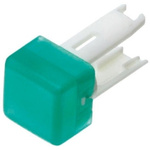 Green Square Push Button Indicator Lens for use with 18 Series