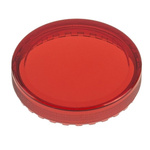 Red Round Flat Push Button Indicator Lens for use with 04 Series Push Button